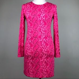 Juicy Couture Pink Snakeskin Print Dress Size XS